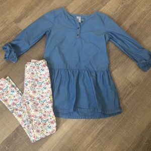 Carters outfit girls size 8 in excellent condition